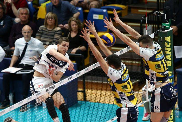 Play off scudetto maschile Quarti di Finale Gara 1: Modena batte Milano 3-0