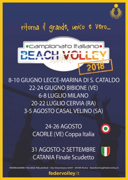 Campionato Italiano Beach Volley: le tappe del tricolore 2018
