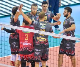 Champions League maschile: Perugia vince 3 a 0 ad Ankara. Giovedì Piacenza in Cev Cup