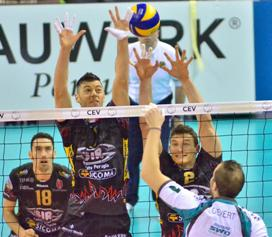 In Cev Cup maschile Perugia batte Duren 3 a 1: giovedì Verona gioca a Istanbul in Challenge Cup