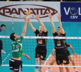In Champions Macerata batte Cuneo 3 a 0. CEV Cup, Latina perde ad Ankara. Challenge Cup bene Piacenza