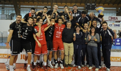 I giocatori di Trento campioni d'Italia junior league 2010