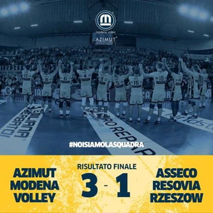 L'Azimut Modena si qualifica ai Play Off 6 di Champions League maschile contro la Lube Civitanova