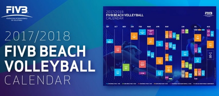 Le tappe del beach volley World Tour 2017/2018 ufficializzate dalla Fivb