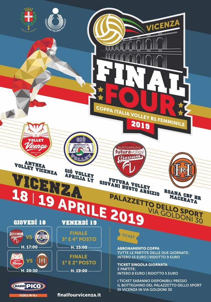A Vicenza la Final Four di Coppa Italia di Serie B1 Femminile