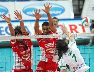Piacenza vince 3-1 a Cuneo in gara 1 dei quarti di finale play off maschili