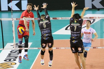 SuperLega maschile Quarti di Finale Play off Scudetto Gara 1: vincono Civitanova e Trento